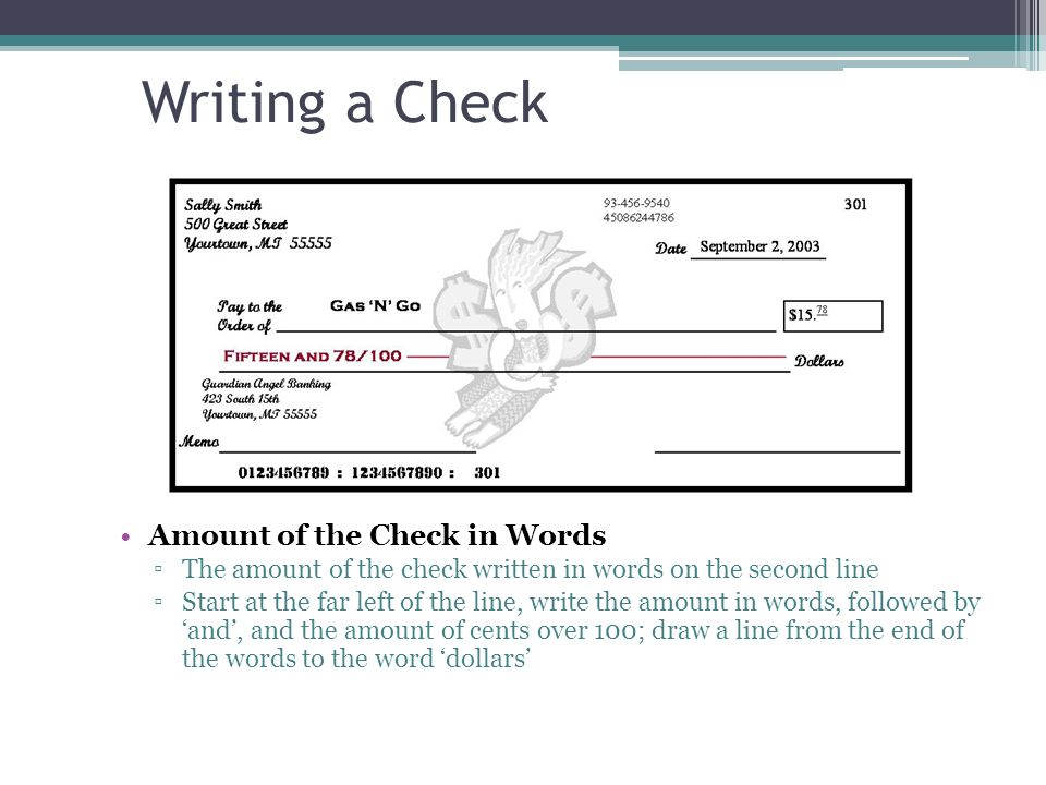 writing check amount Do you need to write out an amount on a check here is how to write a check amount.