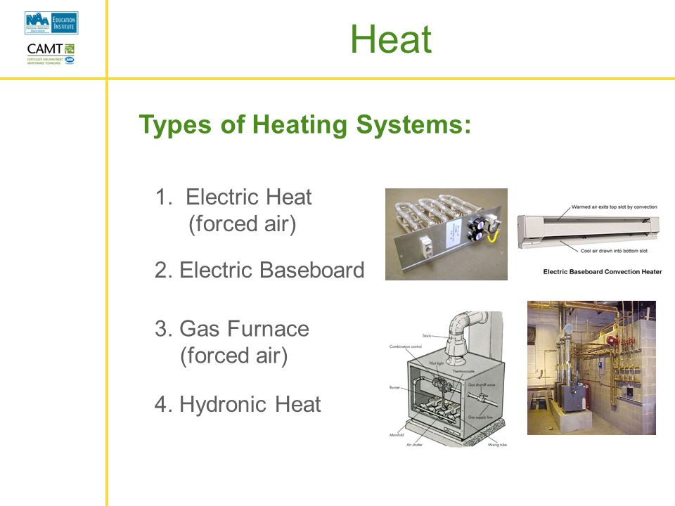 Heating maintenance and repair ppt video online download for Types of gas heating systems