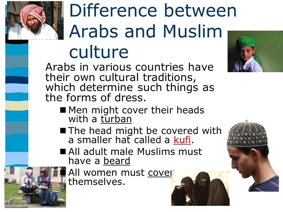 An introduction to the differences between an arab and muslims