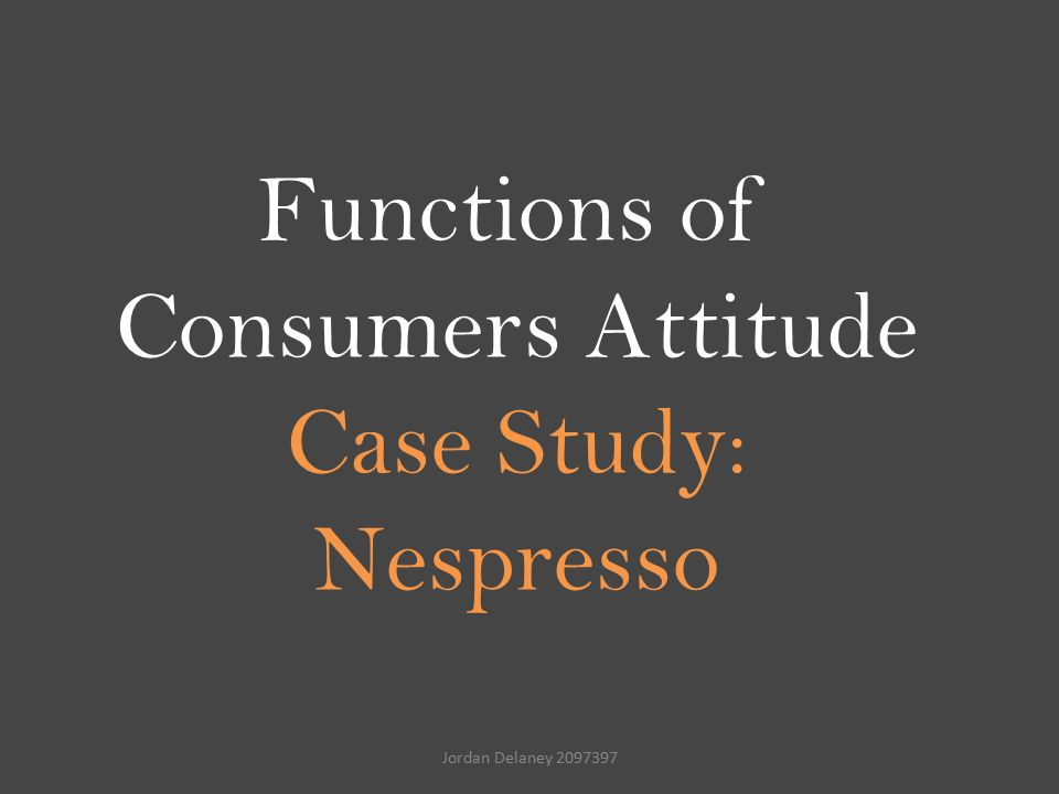 "nespresso case study All communications are based on the brand positioning ""my ultimate coffee experiences"" building on the insight that consumers want to be part of luxury brands."