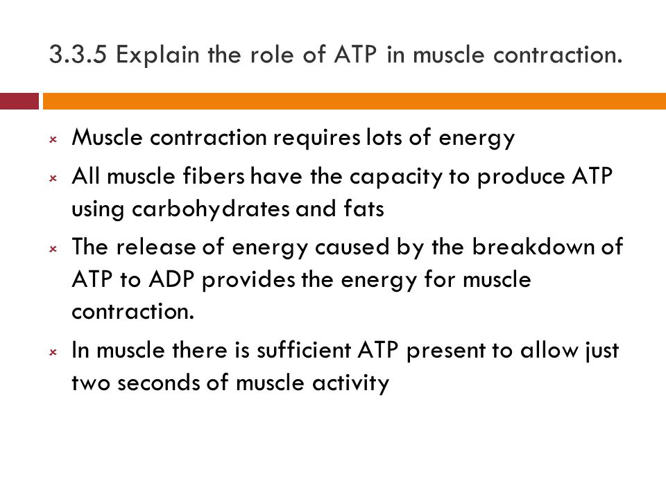 What is the role of ATP?