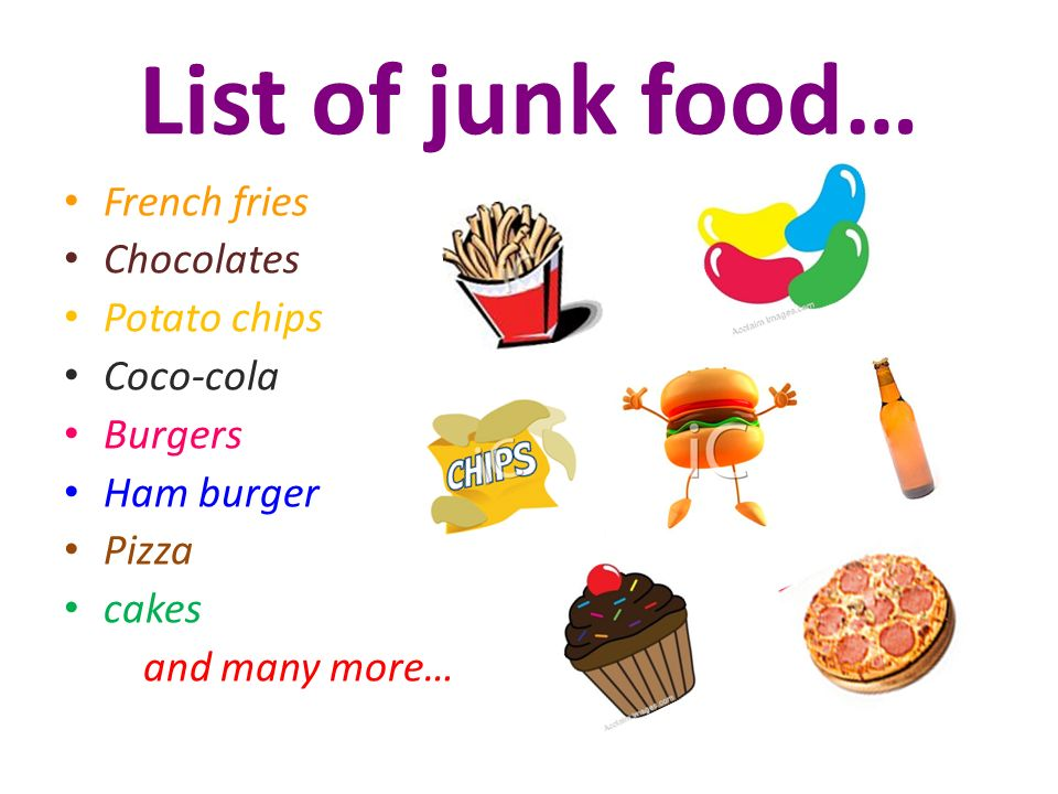 List Of Junk Food In French