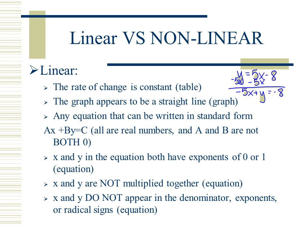Linear And Nonlinear Equations Jennarocca – Linear and Nonlinear Functions Worksheet