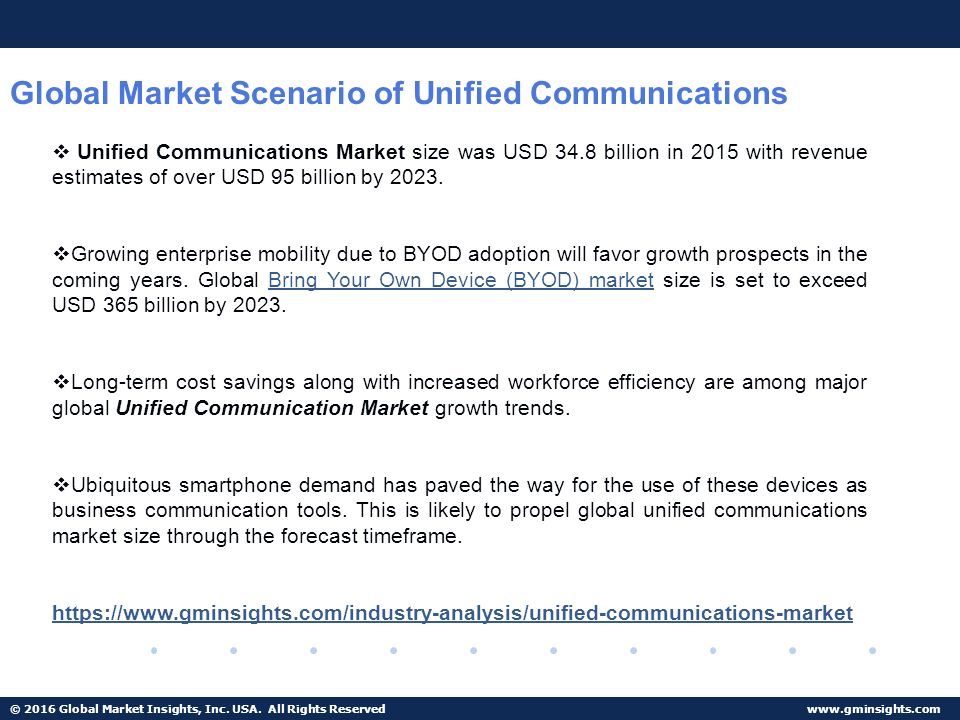 Global Communications Benchmarking Scenario