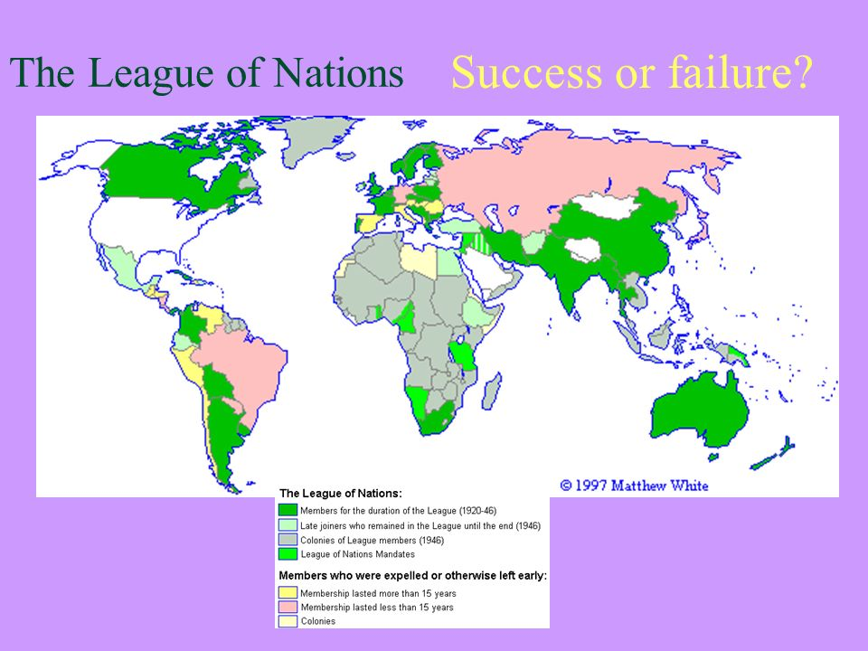 An analysis of the failure of the league of nations
