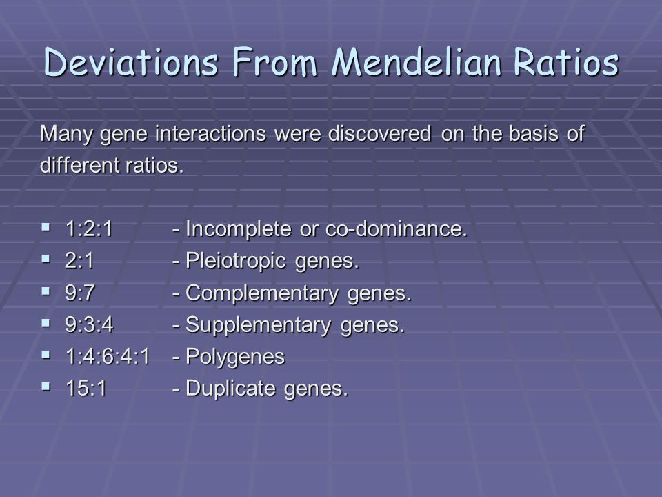 How are deviations from mendel's laws of inheritance explained?