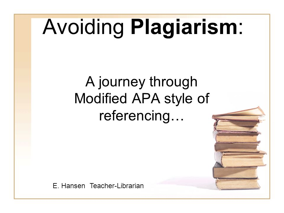 A journey through Modified APA style of referencing…