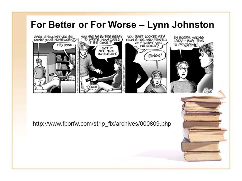 For Better or For Worse – Lynn Johnston