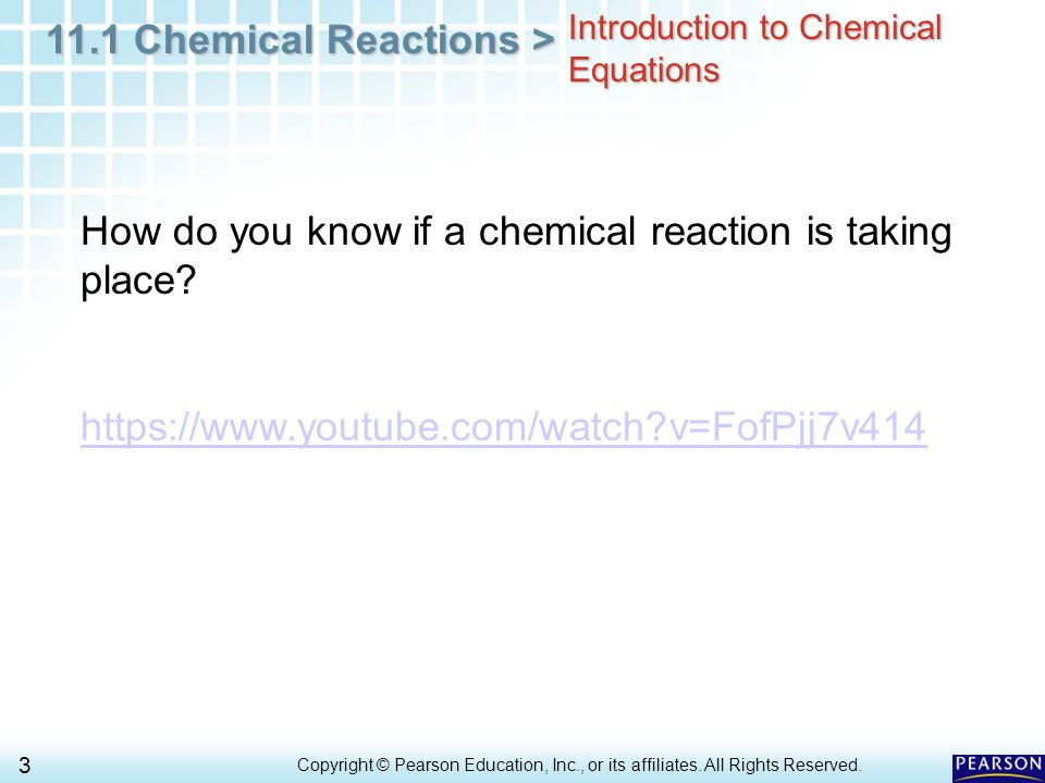 how to know when there is an chemical change