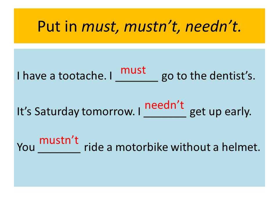must mustn t needn t exercises pdf