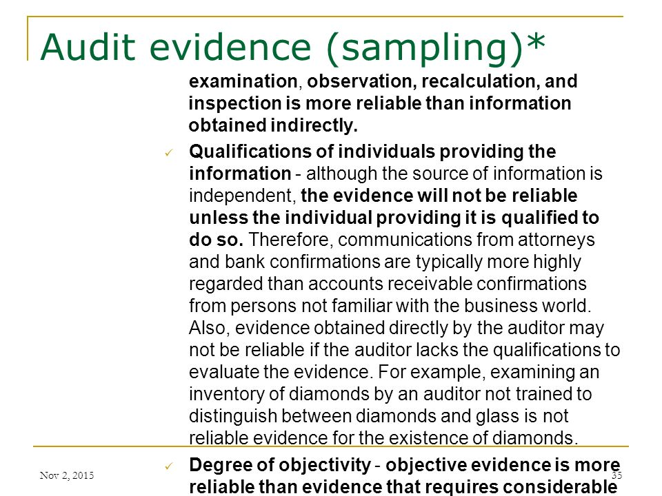 audit sampling and the auditor s objective Learning objectives describe how auditors use sampling and generalized audit  software to gather sufficient appropriate audit evidence explain the objectives of .