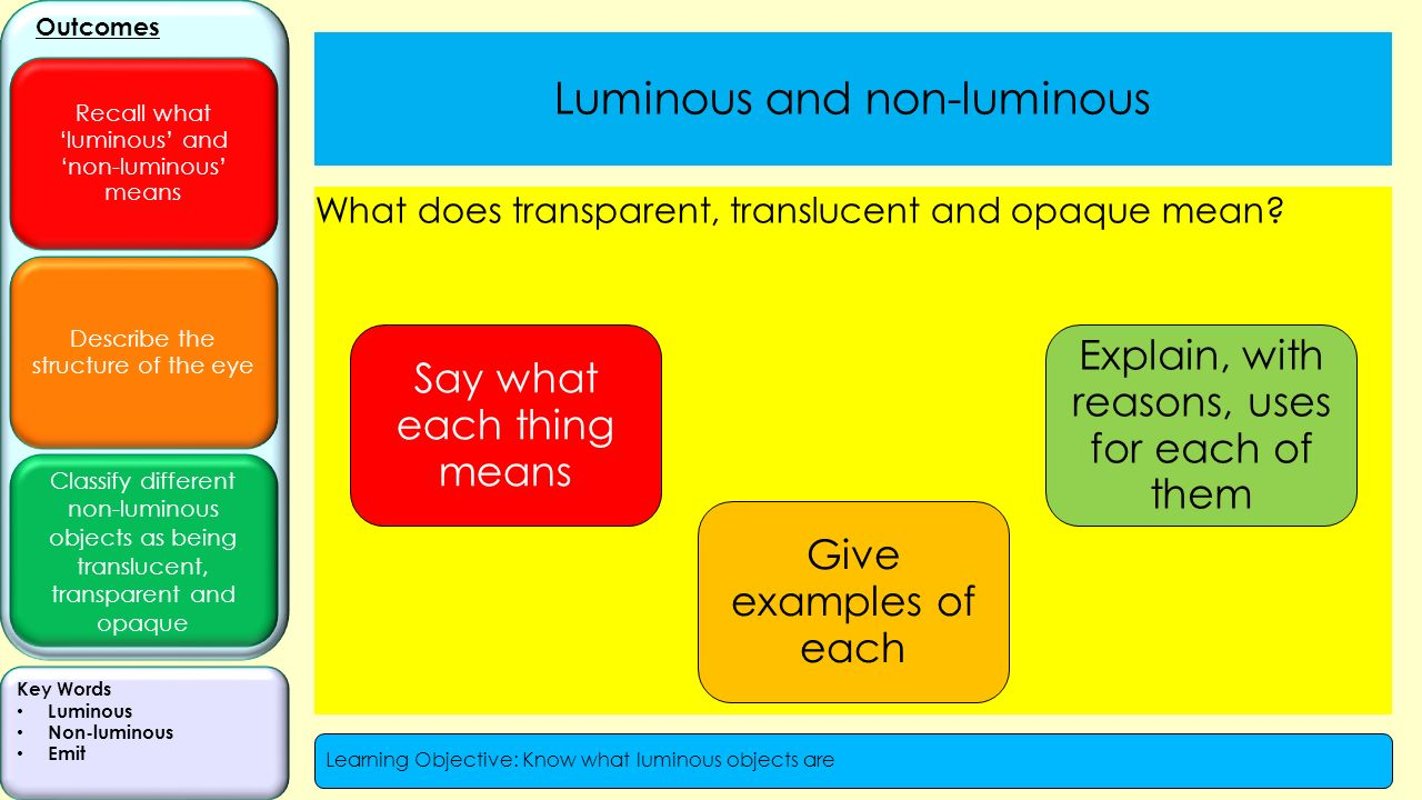Luminous And Non Luminous Ppt Video Online Download