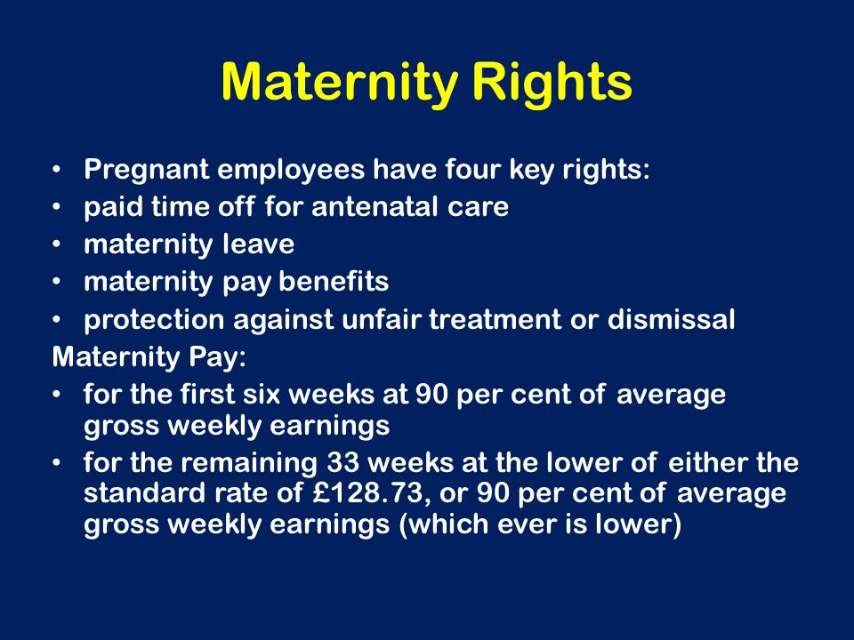 maternity rights Your rights: maternity leave and pay in south africa – mywagecoza.