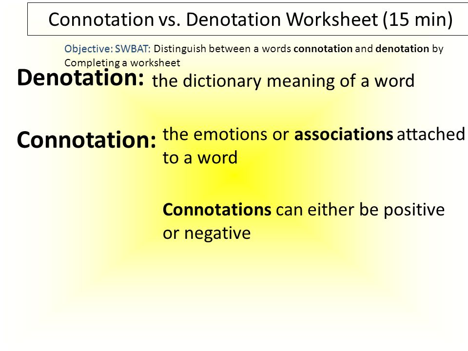 Write about a defining moment in your life ppt download – Connotation Worksheet
