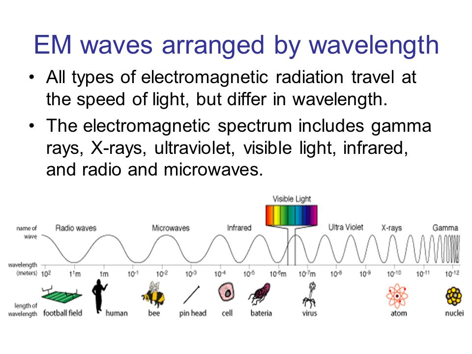 a description of gamma rays as waves on the electromagnetic spectrum Infrared radiation is a kind of light wave (usually abbreviated as ir)  if you want  to read about each region in more detail, each page has an excellent summary:   of electromagnetic radiation (radio, infrared, visible, ultraviolet, x-ray, gamma.