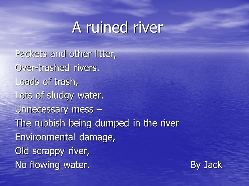 Poetry On Water Pollution 22