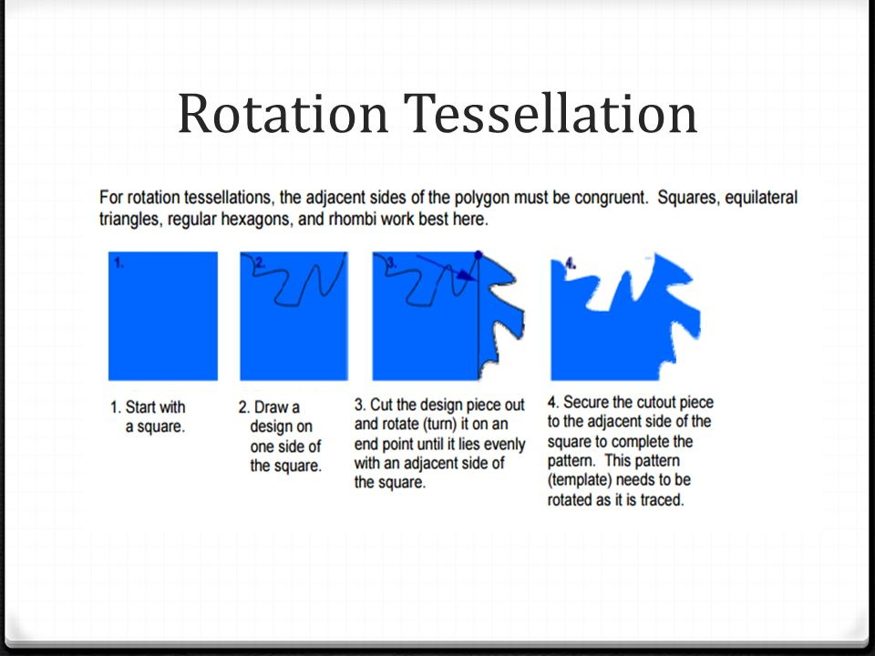 how to make a reflection tessellation with an index card