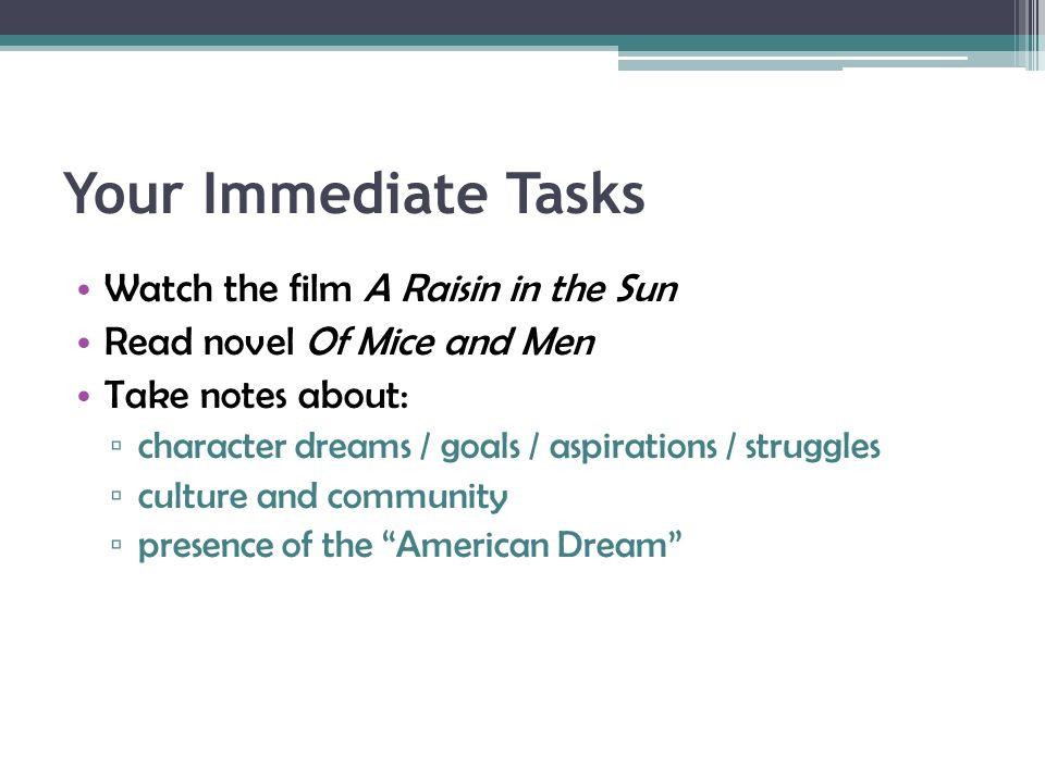 a raisin in the sun and the american dream essay A raisin in the sun: the quest for the american dream | edsitement.