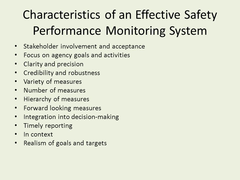 characteristics of an effective system of Qualities and characteristics of good reports  the m&e system should be able to generate information that can be organized using different formats.
