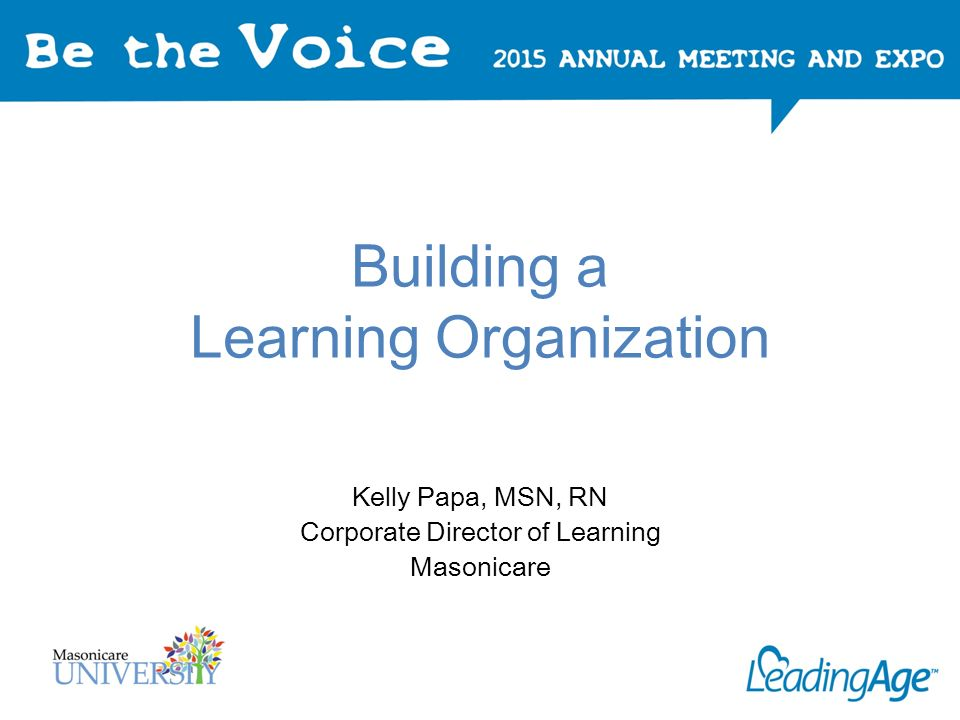 building a learning organization pdf