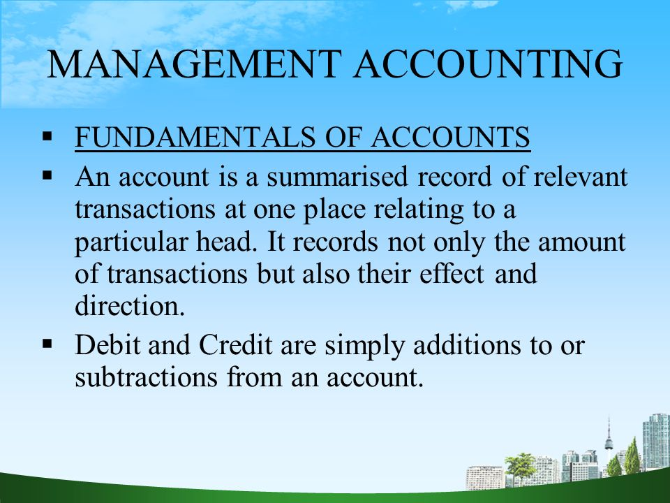 management accounting What is the difference between financial accounting and management accounting financial accounting has its focus on the financial statements which are distributed to stockholders, lenders, financial analysts, and others outside of the company.