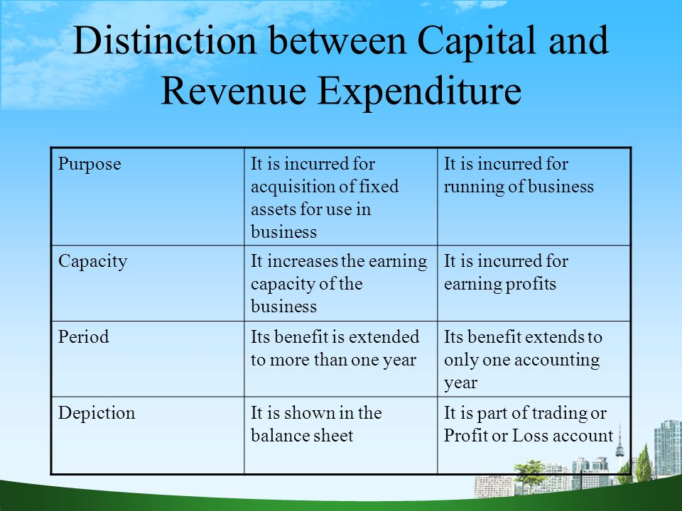 capital expenditure and revenue expenditure Glossary:government revenue and expenditure  (defined as gross disposable income less final consumption expenditure) less net capital transfers less gross.
