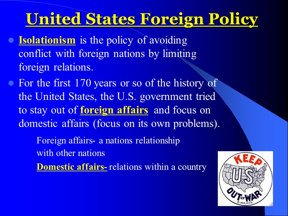 a history of foreign policies by former presidents in the united states These chinese policies hurt innovators in the united states and worldwide by interfering with the ability of foreign technology holders to set market-based terms in licensing and other technology-related contracts.