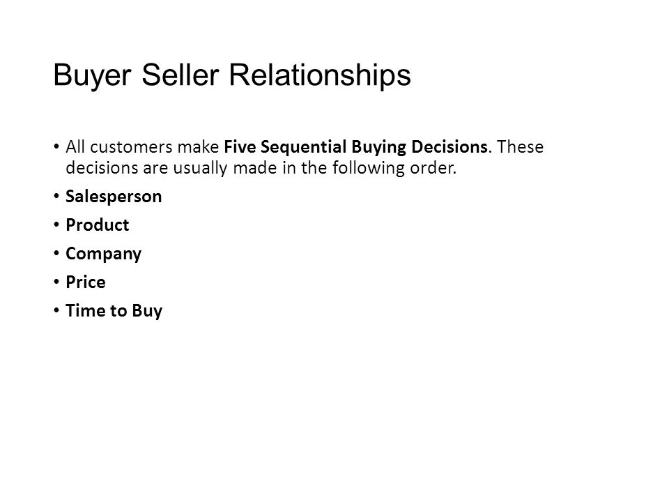 trust in buyer seller relationship Satisfaction in buyer-seller relationships - influence of cultural differences  (ie the relationship between trust and commitment),.