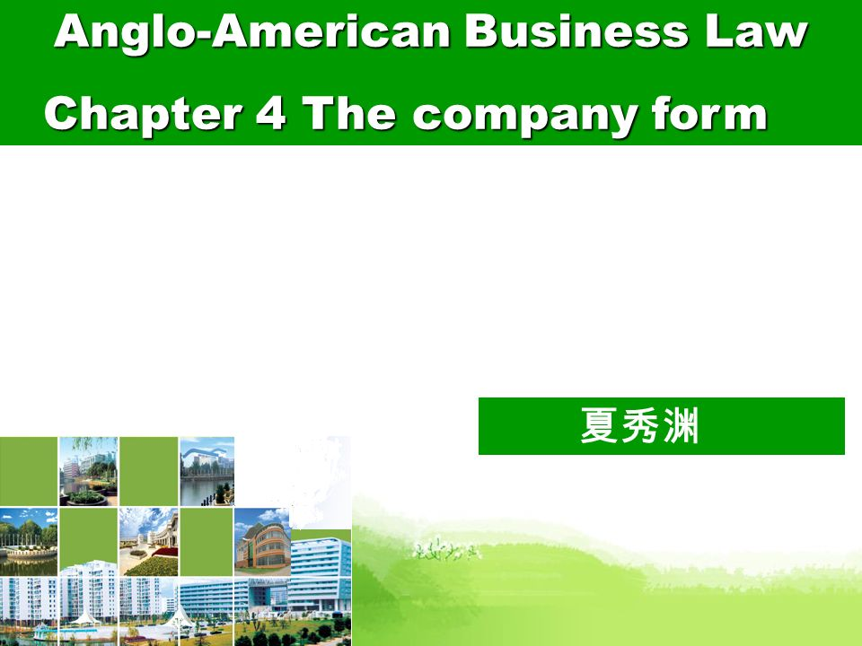 Anglo-American Business Law Chapter 4 The company form - ppt download