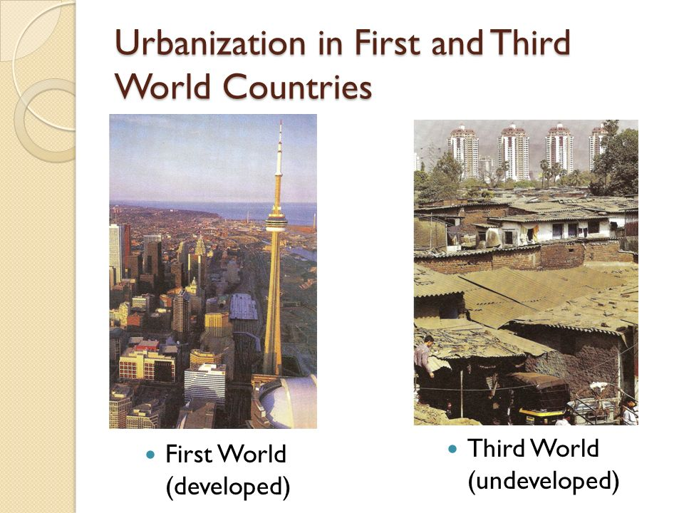 urbanization in third world countries essay Environmental problems are very much a hazard in the developing countries as in the developed world urbanization: here is your essay on urbanization no comments yet leave a reply click here to cancel reply you must be logged in to post a comment.