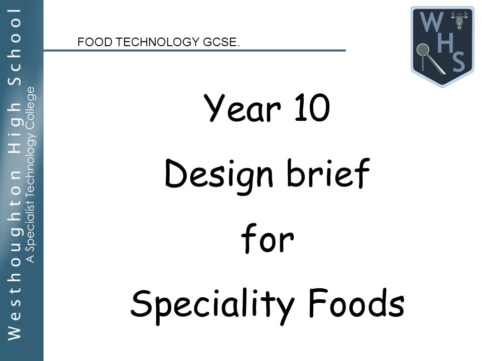 food technology year 10 coursework