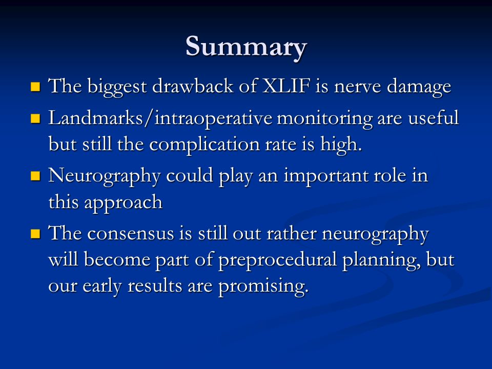 review of lif and role of neurography in xlif - ppt download,