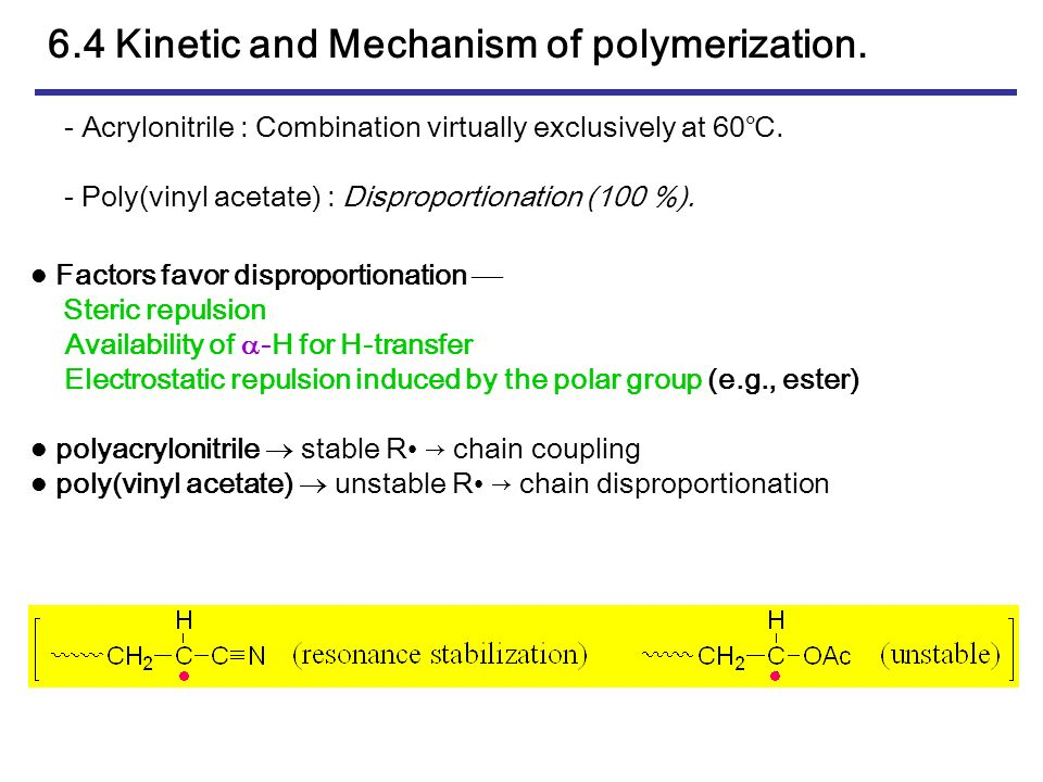 Chapter 6 Free Radical Polymerization Ppt Download