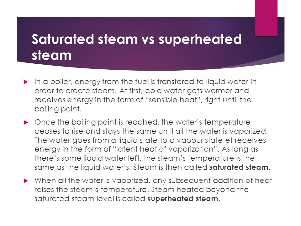 sterilization by saturated steam This process of thermal sterilization using saturated steam under pressure should be used whenever possible for aqueous preparations and for surgical materials.