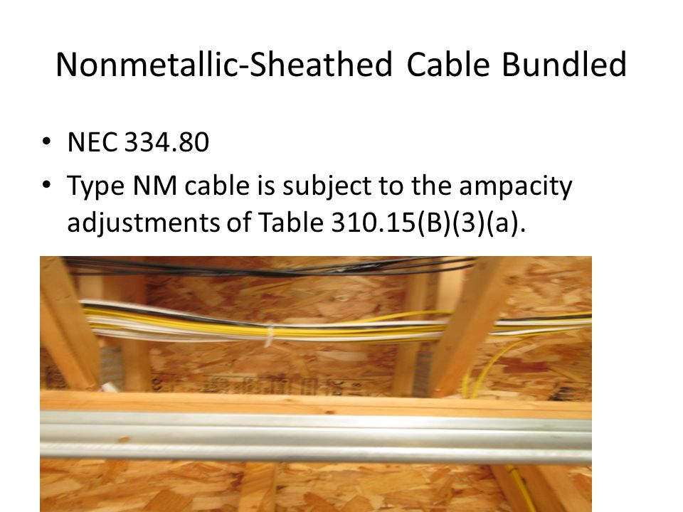 Nonmetallic-Sheathed Cable Bundled