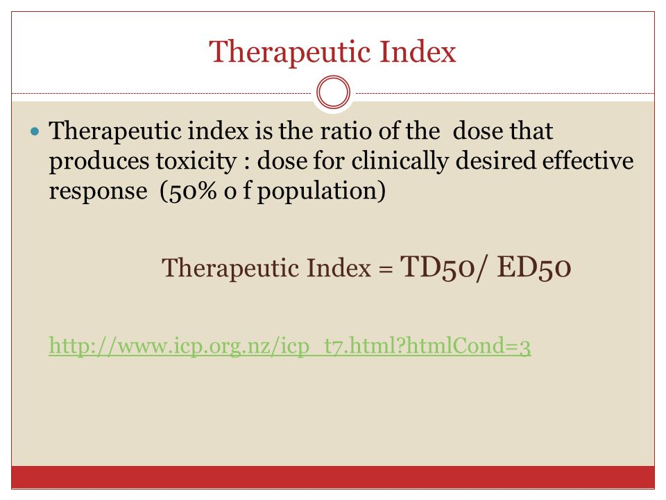 therapeutic index Index statistical composite that measures changes in the economy or in financial markets, often expressed in percentage changes from a base year or from the previous month.