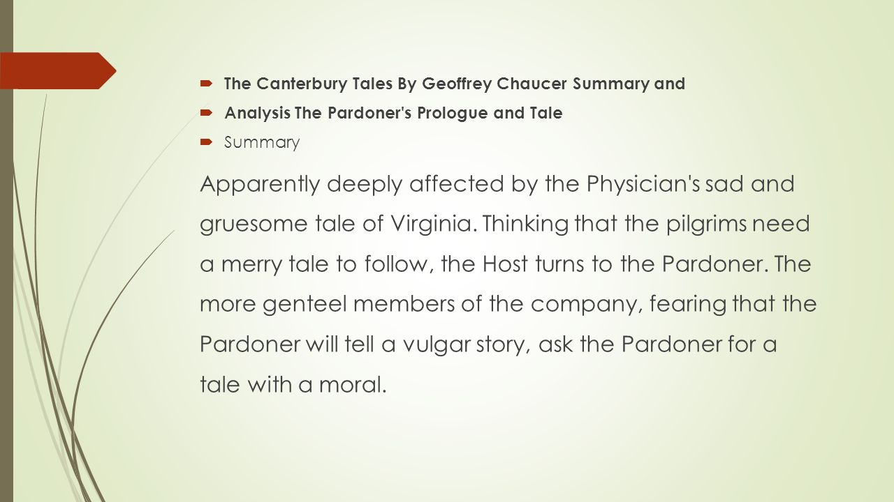 morality in canterbury tales essay