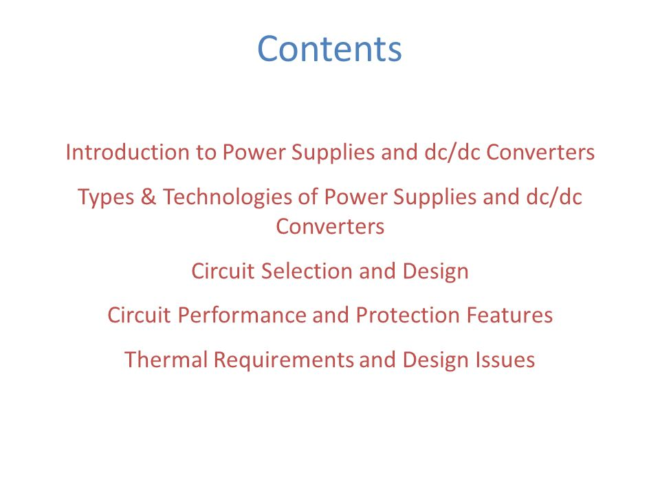 different types of converters in power electronics ppt