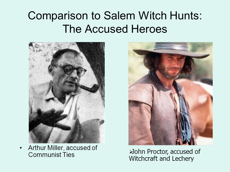 Mccarthyism and the salem witch trials essays