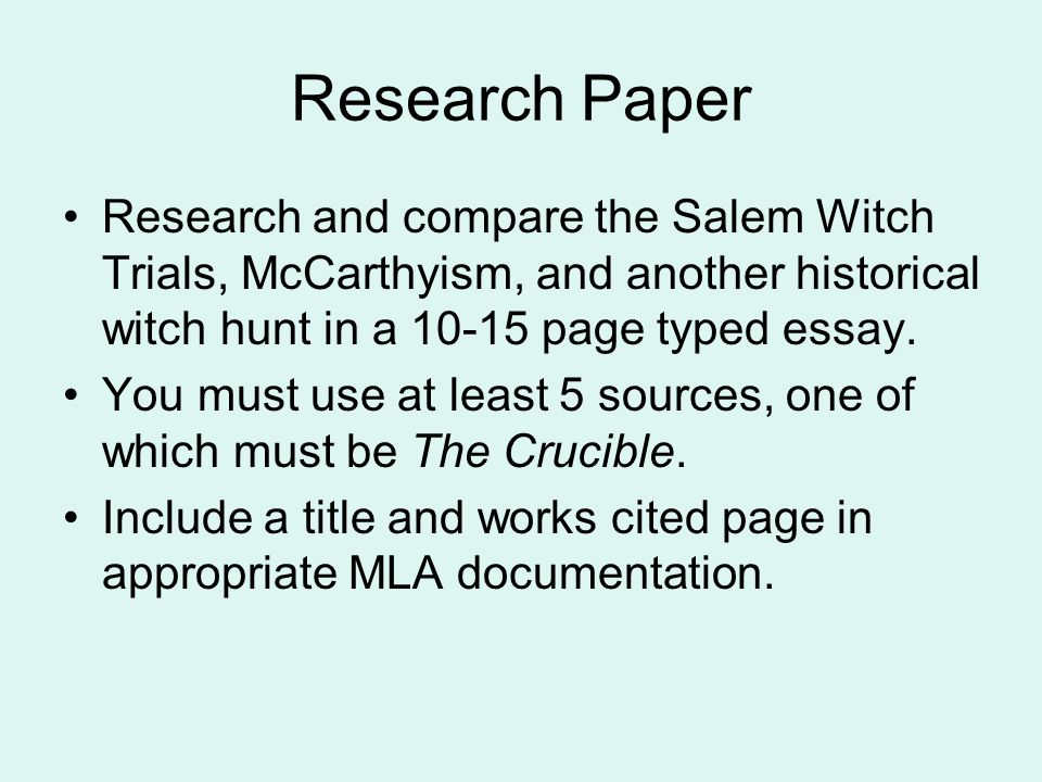 Salem Witch Trials Critical Essays