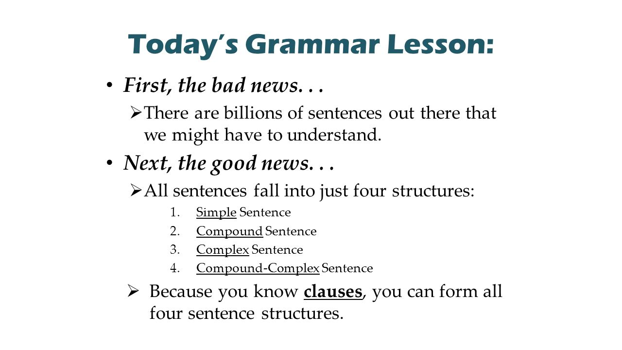 compound sentence structures