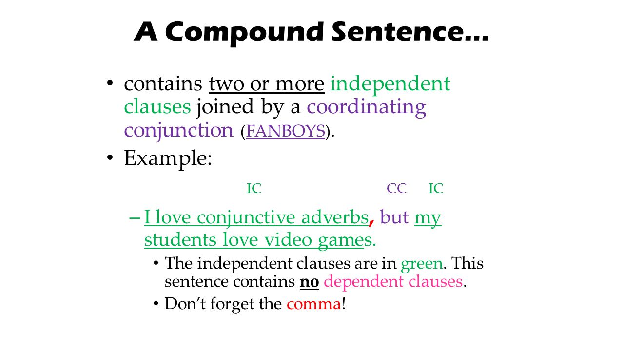 grammer coordination in compound sentences A compound-complex sentence contains a combination of two types of sentence structures: a compound and a complex sentence compound sentences combine two independent clauses, a type of clause that completes a full thought.
