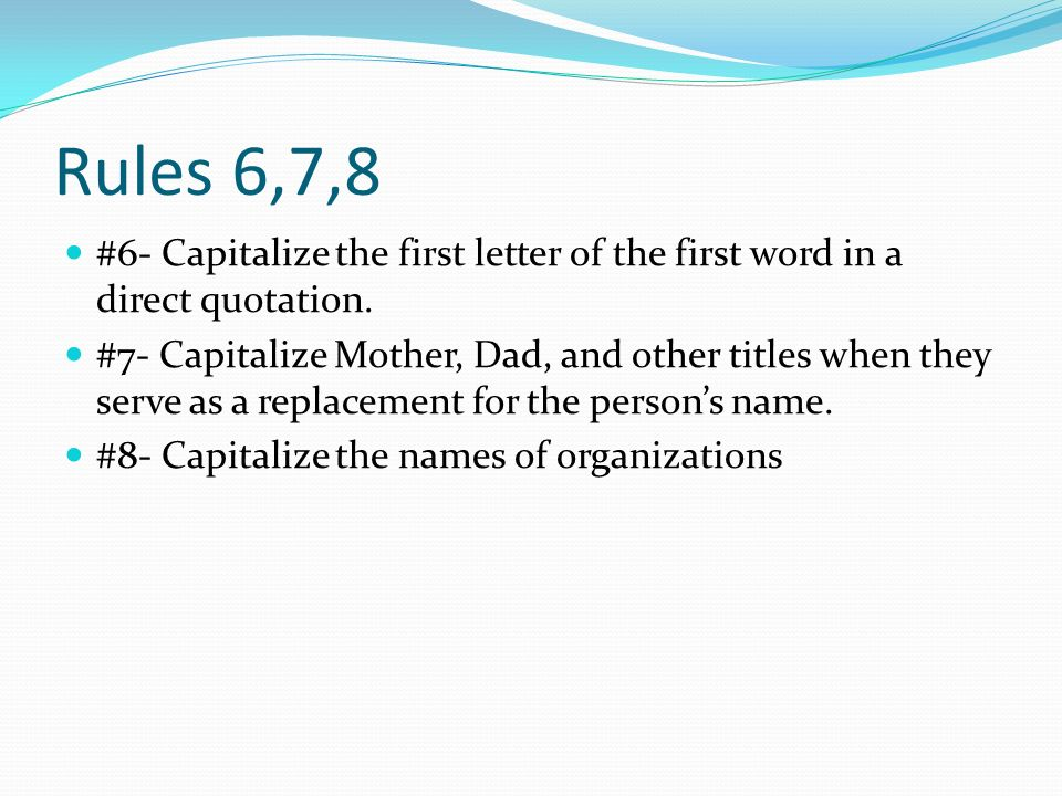 Capitalize First Letter Online