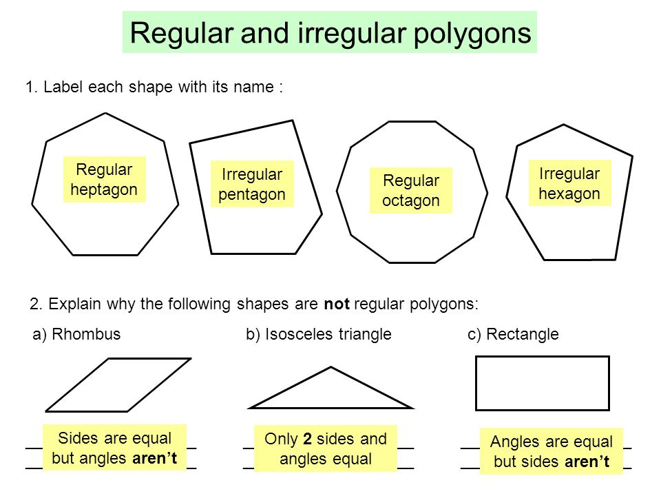 Polygons A Polygon Is A Shape Made From Only Straight