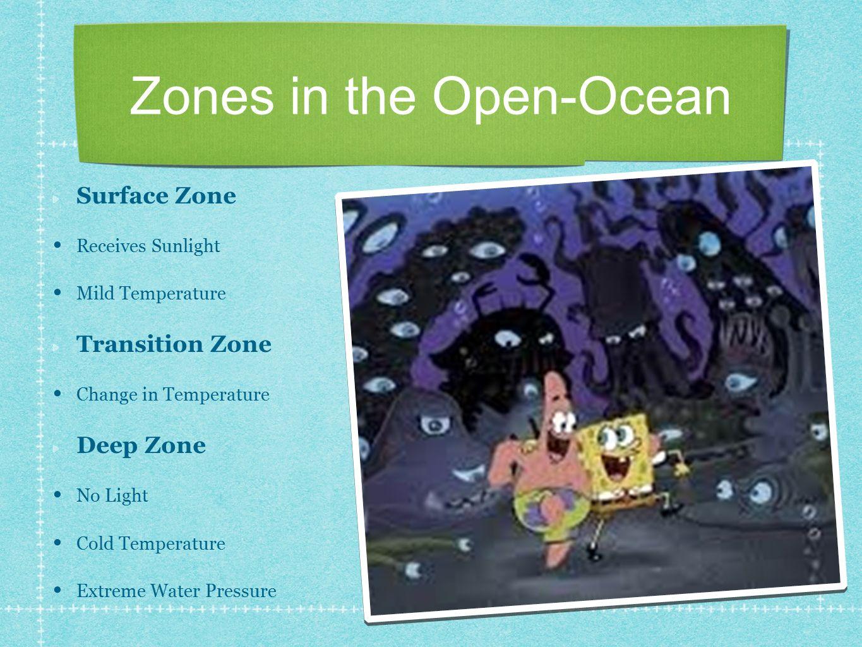 Zones in the Open-Ocean