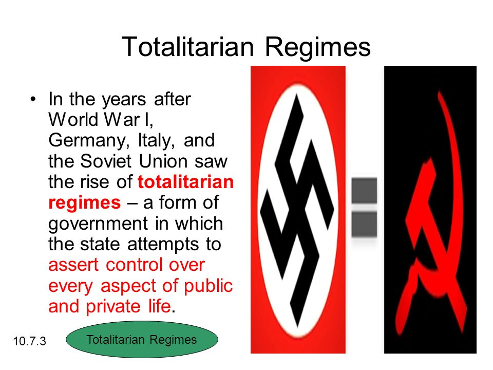 Totalitarian Governments Standard ppt download