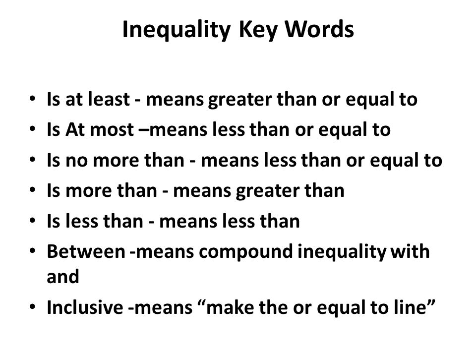 Word Problems That Lead To Inequalities Ppt Download