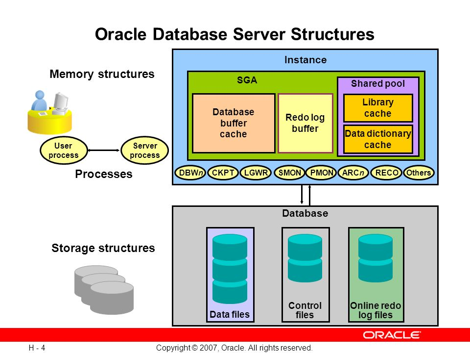 Oracle Database Server Structures