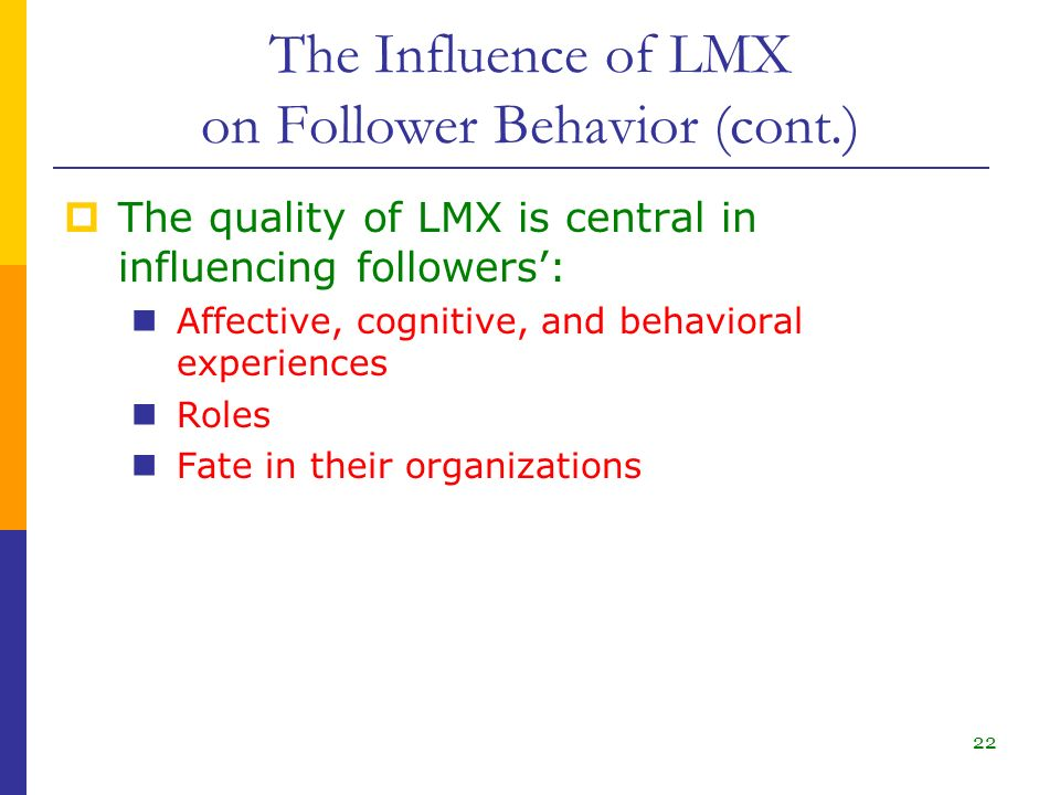 the leader follower relationship represents influence