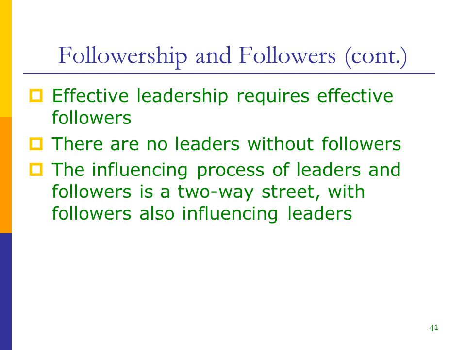 leader and follower relationship ppts